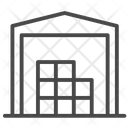 Warhouse Storage Building Factory Icon