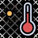 Warm Temperature Sun Icon