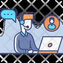 Warm Calling Support Service Helpline Icon