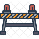 Warning Barrier Traffic Barrier Icon