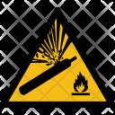 Warning Gas Explosive Icon