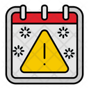 Warning Sign Calendar Icon