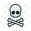 Warning Danger Skull Icon