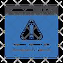 Warning Webpage Alert Icon