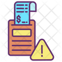 Warning Alert Payment Invoice Alert Bill Alert Icon