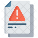 Warning Document Error Note Icon