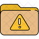 Warning Alert Folder Icon