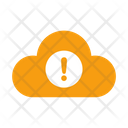 Warning in cloud Icon