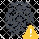 Warning Error Finger Icon