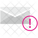 Warning in mail Icon