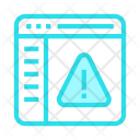 Warning in webpage Icon