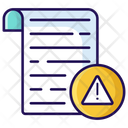 Warning Letter Icon