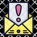Warning Mail Email Warning Notification Icon