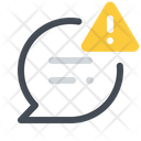 Warning Message Chat Icon