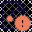 Warning Music File Icon