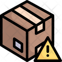 Warning sign in box Icon