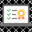 Checklist Laptop Check Icon