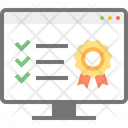 Monitor Ribbon Badge Quality Icon