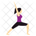 Warrior Pose Yoga Icon