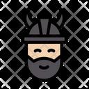 Viking Helmet Face Icon