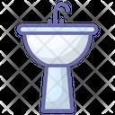 Wash Basin Sink Bath Equipment Icon