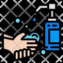 Water Wash Hand Washing Healthcare Icon