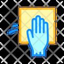 Wash Napkin Glove Icon
