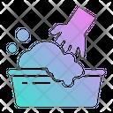 Washable Washer Hand Icon