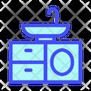 Sink Design Furniture Icon