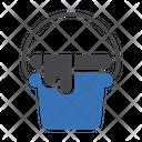 Bucket Washing Laundry Icon