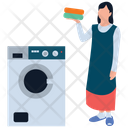 Washing Clothes Upholstery Cleaning Laundry Icon
