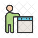 Washing Clothes Utensils Icon