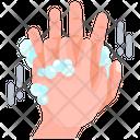 Interlock Fingers Washing Fingers Finger Washing Icon