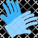 Blue Gloves Washing Icon