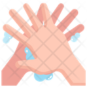 Washing Hand Wiping Palm Icon
