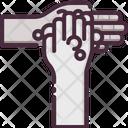 Washing Hand Gesturing Tap Icon