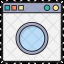 Washing Laundry Machine Icon