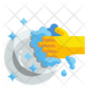 Washing Plate Dish Cleaning Icon