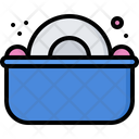 Washing Dishes Plate Icon