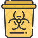 Hospital Waste Bin Radioactive Health Care Icon