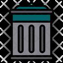 Waste Bin Dustbin Trash Bin Icon