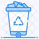 Waste Bucket Trash Can Recycle Bin Icon