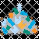 Plastic Garbage Mountain Icon