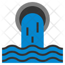 Waste Water Disaster Nature Pollution Icon