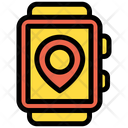 Watch Smartwatch Location Pin Icon