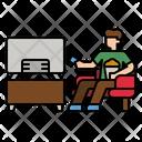 Watching Tv Tv Watching Icon