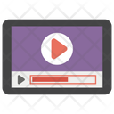 Watching Video Online Video Internet Video Icon