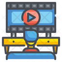 Watching Video Player Multimedia Icon