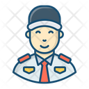 Watchman Security Man Watchkeeper Icon