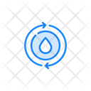 Water Spin Washing Machine Mode Icon